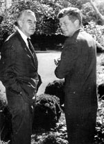 William Averell Harriman & le Président John Fitzgerald Kennedy